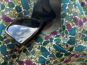 : Reversible bag sparkling denim & mini flowers by Yvonne & Annette