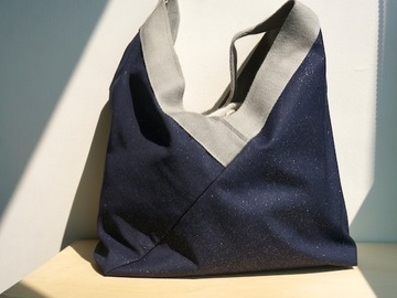 : Reversible bag  by Yvonne & Annette flowers and starry night