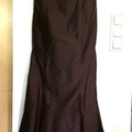 Ilmoitus: Kaunis ruskea, pitkä mekko, aitoa silkkiä