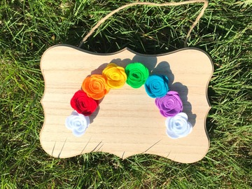 Selling: Felt Flower Rainbow | Rainbow Wall Hanging