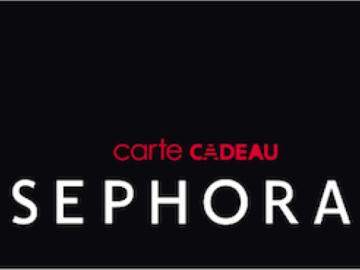 Vente: Carte cadeau Sephora (140€)