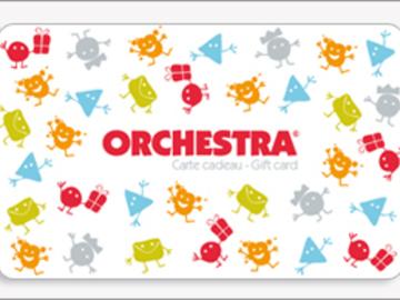 Vente: Carte cadeau Orchestra (85€)