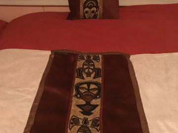 For Sale: Nubian mask bed runner +cushion