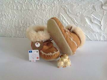 Selling: Authentik Sheepskin mocassins  boots for toddlers & young child
