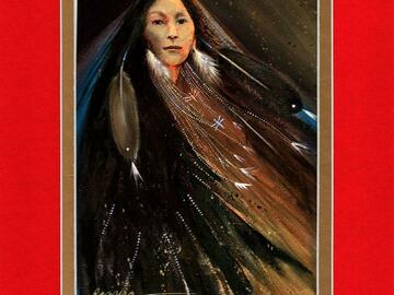 Selling: Eagle Spirit Woman - Double matted archival prints entirely