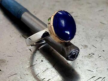 "Selling: Lapiz Lazuli Ring ""King Tut"""