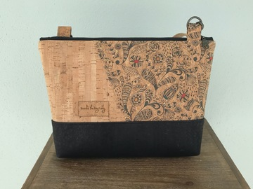 Selling with online payment: Tri-color Cork Purse - Whimsical