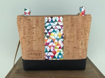 Selling with online payment: Rainbow Triangle Cork Purse