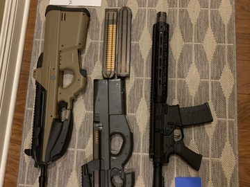 Selling: Selling G&G f2000, EMG Falkor, and Mauri P90