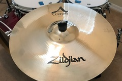 "Selling with online payment: ZILDJIAN 18"" A Custom Crash Cymbal Brilliant"