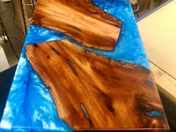Selling with online payment: Cuban Mahogany and Epoxy Table