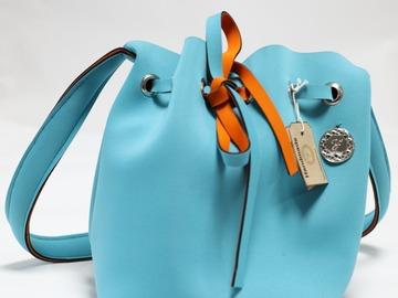 : Turquoise Bucket Bag