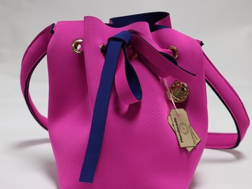 : Bright Pink Bucket Bag