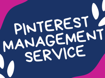 Offering online services: Pinterest Managment Service - 30 Day Package