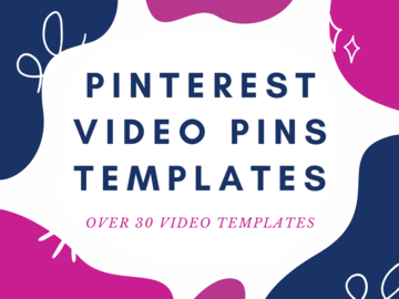 Offering online services: Templates For Pinterest Video Pins