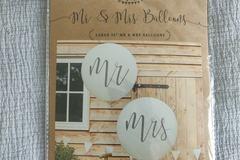 Ilmoitus: Mr & Mrs jätti-ilmapallot, Dance Floor -ilmapallot