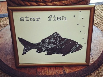 Selling with online payment: Star Fish, Celestial Map Fish Picture