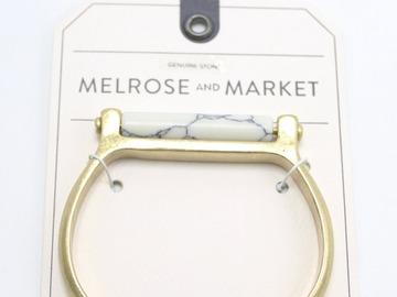 Liquidation/Wholesale Lot: Dozen Nordstroms Gold Semi Precious Stone Bracelets $206 Value