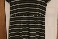 Selling: Sylvester Green/Grey/White Stripe Dress Size M