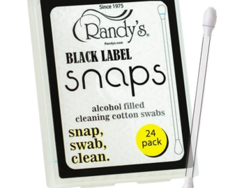 Post Now: Randy's Black Label Snaps - Alcohol Filled Cotton Swabs