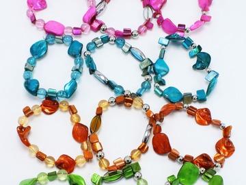 Liquidation/Wholesale Lot: 45 Piece Wholesale Genuine Shell Stretch Bracelets