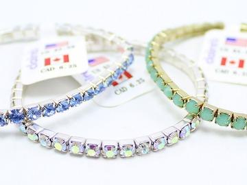 Liquidation/Wholesale Lot: 24 Piece Claire's Silver Rhinestone Tennis Bracelets  $132 Valu