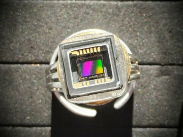 Selling with online payment: Recycled Microchip 'Bling' Ring