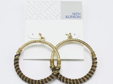 Liquidation/Wholesale Lot: Dozen New Gold Hoop Earrings by 14th & Union Nordstrom Rack