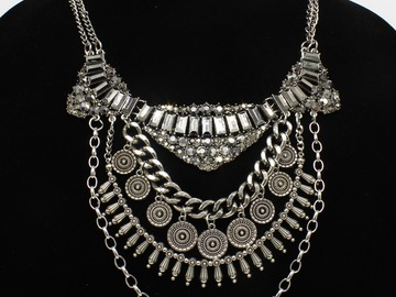 Buy Now: Dozen New Silver Ornate Statement Necklaces by Joe Boxer