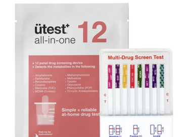 Post Now: UTest 12 Panel at Home Drug Screen Urine Test