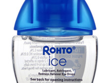 Post Products: Rohto, Cooling Eye Drops, Ice, All-In-One, 0.4 fl oz (13 ml)