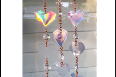 Selling with online payment: Rainbow Hearts Suncatcher Mobile