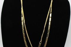 Buy Now: Dozen New Long Gold Tone Necklaces by Blue Asphalt