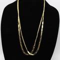 Buy Now: Dozen New Long Gold Tone Necklaces by Blue Asphalt