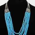 Buy Now: Dozen New Silver & Turquoise Bead Necklaces by Dress Barn