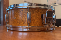Selling with online payment: 60s MIJ Stencil 5 x 14 Snare Drum in Orange Sparkle