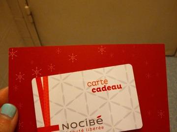 Vente: Carte cadeau Nocibé (50€)