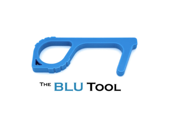 Products for Sale: The BLU Tool - Touch Tool Door Opener with Copper Infused Surface