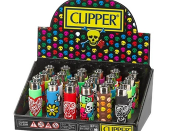 Post Products: Clipper Lighters - Pop Cover Skull Silicone Wrap