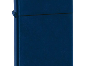 Post Products: Zippo Lighter - Slim Navy Blue Matte