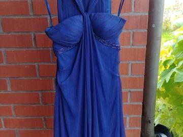 Ilmoitus: Kaunis sininen iltapuku / juhlapuku ja huivi (XS)