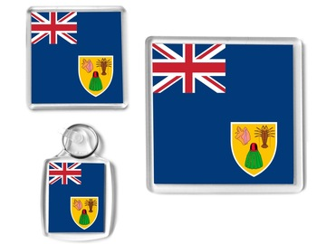 For Sale: TURKS & CAICOS Flag - Small Gift Set, Keyring, Coaster, Magnet
