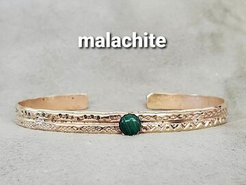 Announcement: Brass Bracelets w/ your choice of stone!