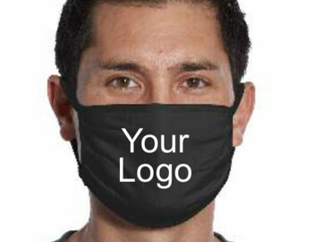 Sell your product: Custom Logo Cotton Face Mask School & Business