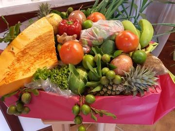 Vente avec paiement en direct: Coffret fruits fleurs légumes