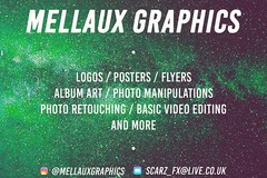 Offering your hiring services: Mellaux Graphics - Logos/Posters/Flyers/Photo Manipulations/Toons