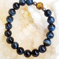 Selling with online payment: Natural Blue Tigers Eye Bracelet