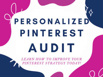 Offering online services: Pinterest Personalized Audit