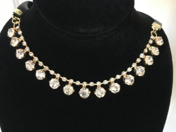 Buy Now: 120 pcs  Crystal  Choker Necklace Wholesale Only .35 cents each!