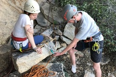 Online Payment - Group Session - Pay per Course: Advanced Rock Climbing Anchors for Climbing Outside
